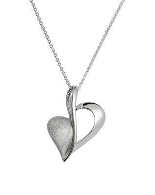 Unique & Co Silver Half Heart Necklace