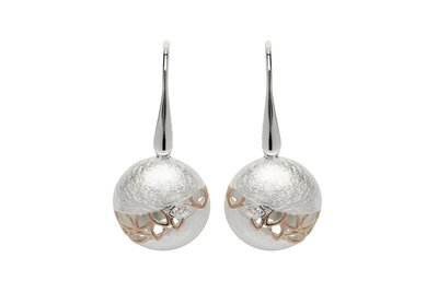 Unique & Co Rose Gold and Silver Ball Earrings