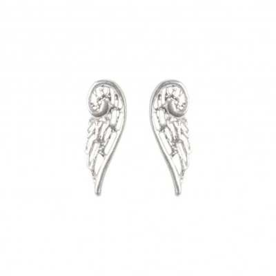 Virtue Exquisite Silver Angel Wing Stud Earrings