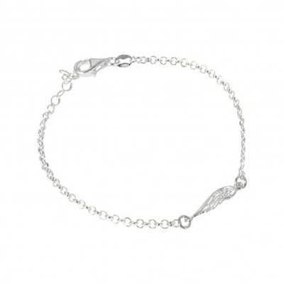 Virtue Exquisite Silver Angel Wing Chain Bracelet