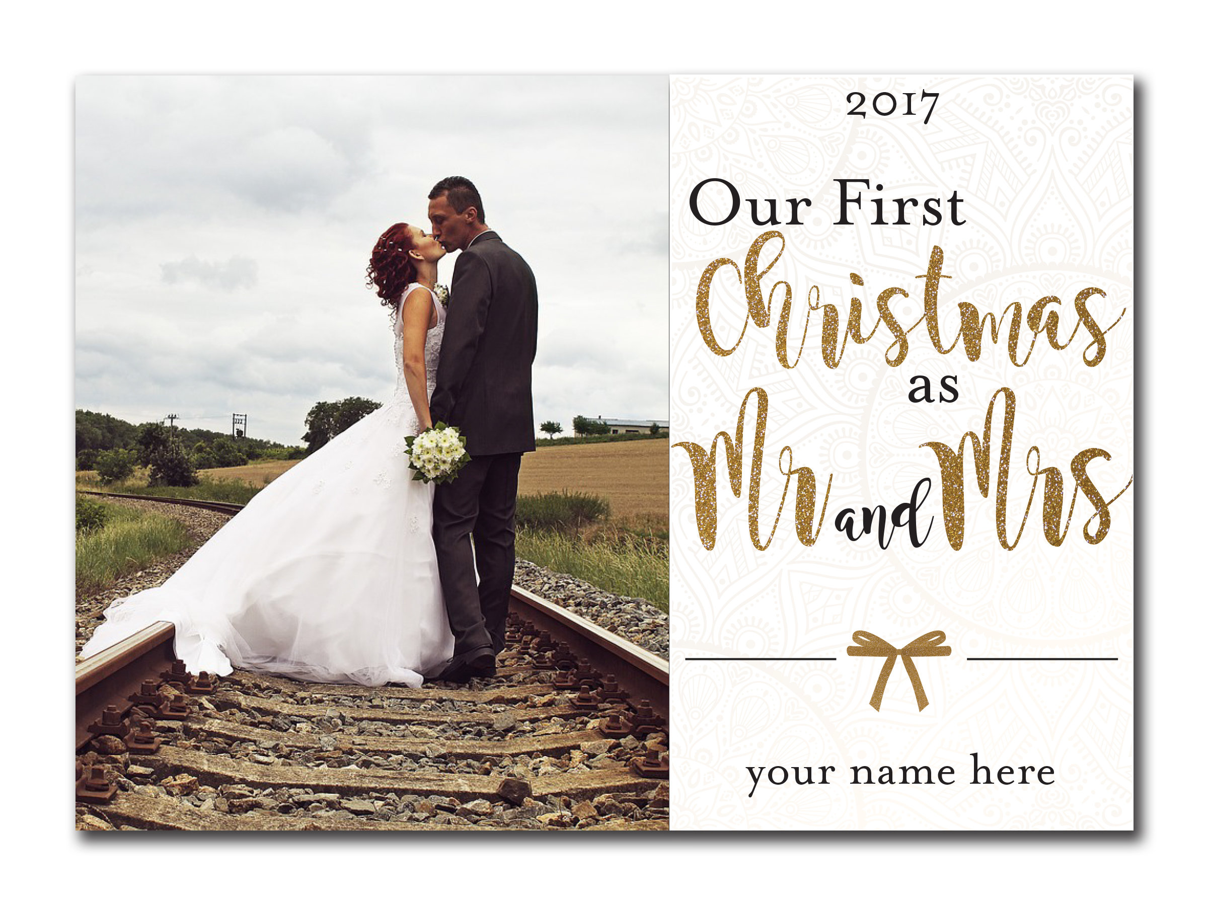 Our First Christmas as Mr. and Mrs. 5x7 00028