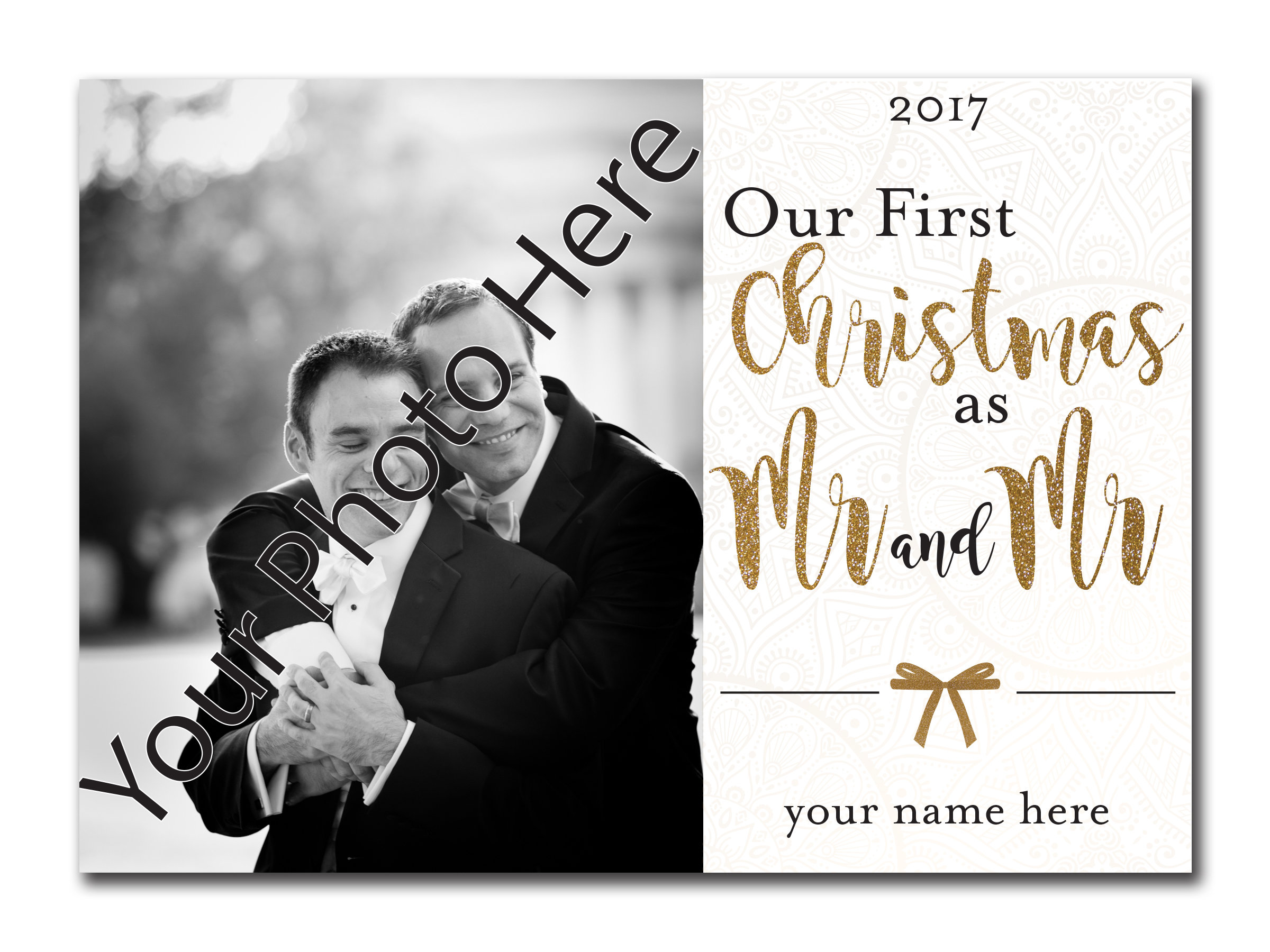 Our First Christmas as Mr. and Mr. 5x7 00034