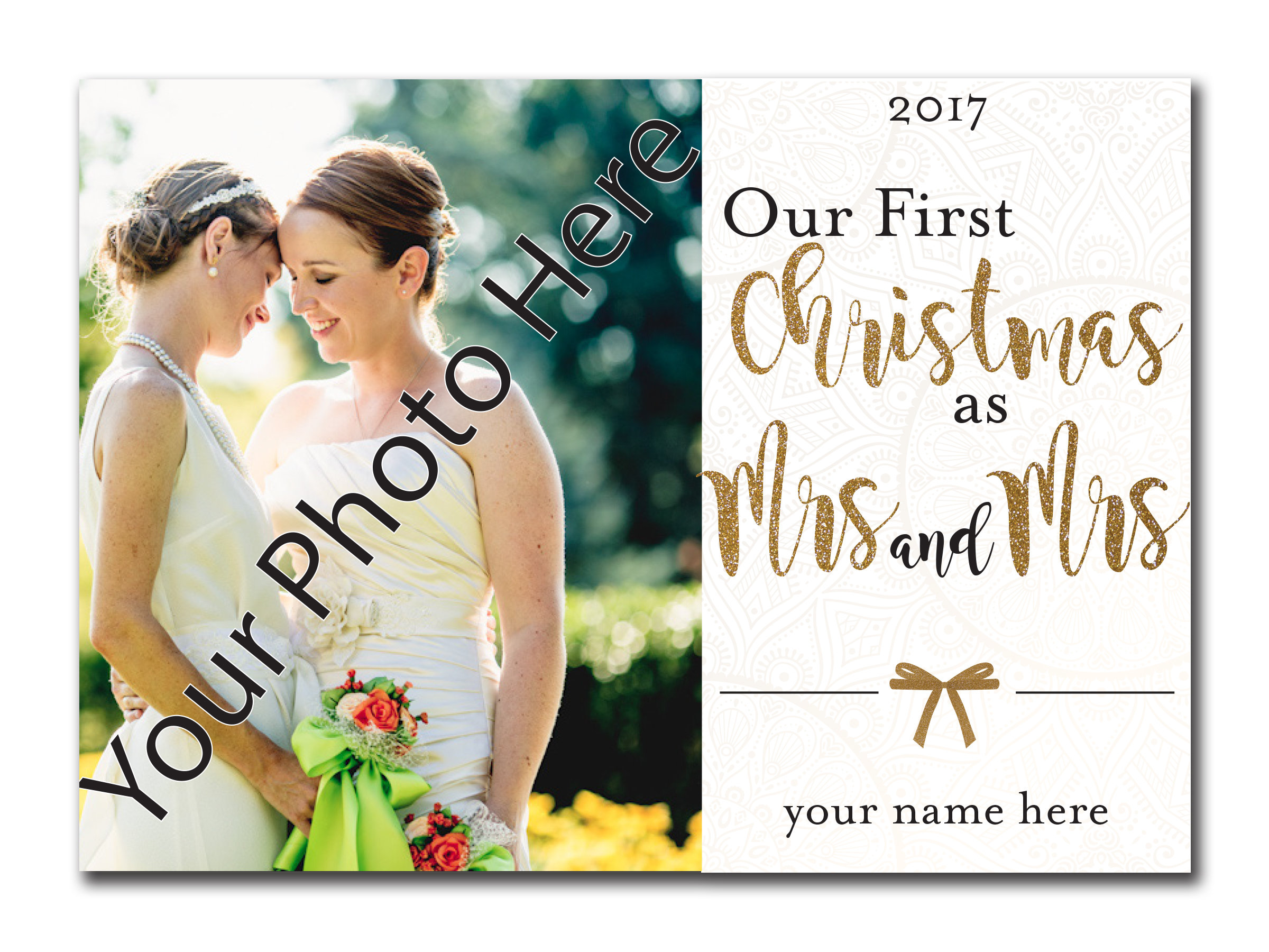Our First Christmas as Mrs. and Mrs. 5x7 00035
