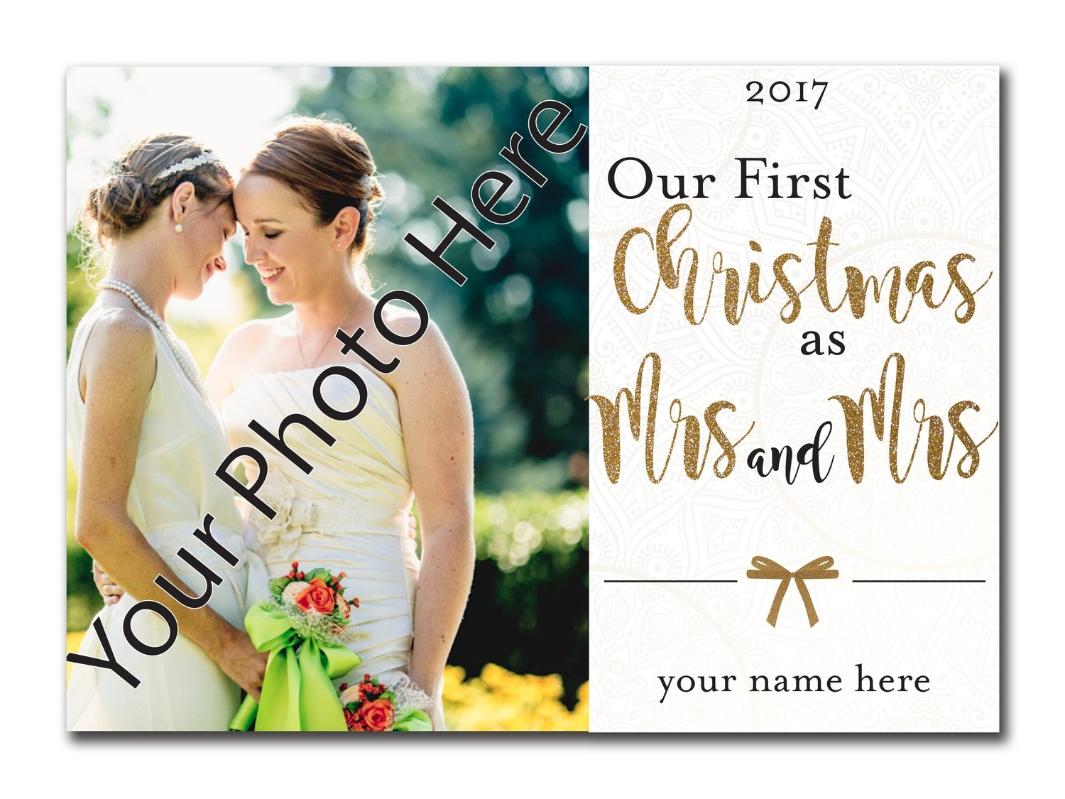 Our First Christmas as Mrs. and Mrs. 5x7