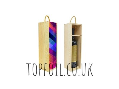 Printed Wooden Wine Gift Box