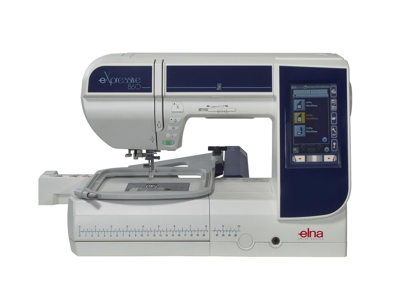 Máquina de coser e bordar Elna 860 Expressive