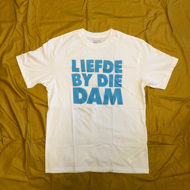 Liefde By Die Dam White & Blue T