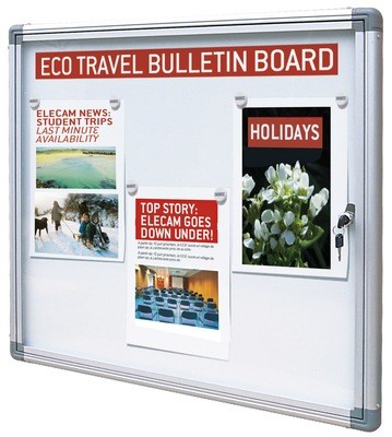 ECO 100 range of indoor Notice Boards 386mm x 550mm x 18mm