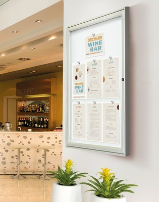 Allure range of single door indoor Notice Boards 1050mm x 750mm x 30mm