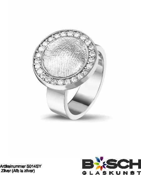 Zilveren ring met vingerafdruk 410 S S014SY