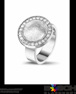 Zilveren ring met vingerafdruk 410 S
