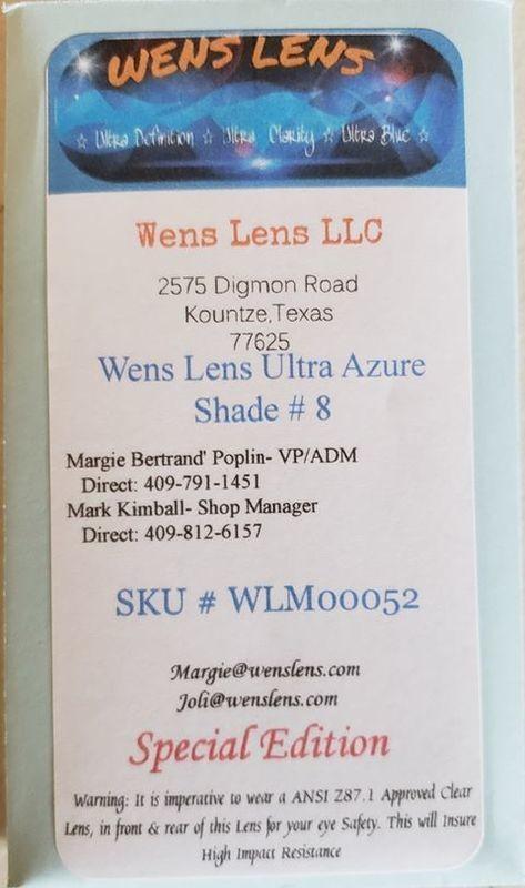 Wens Lens Ultra Azure Shade #8