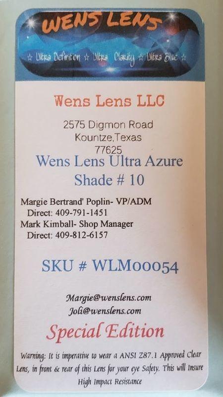 Wens Lens Ultra Azure Shade #10