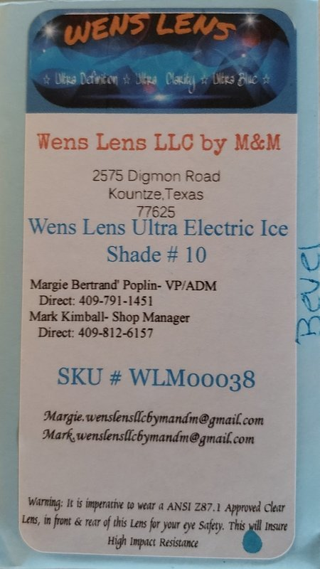 Wens Lens Ultra Electric Ice Shade #10