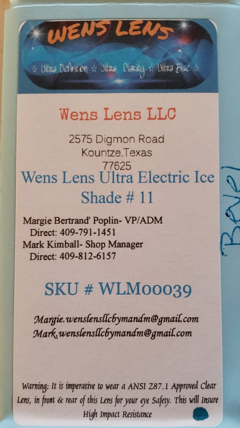 Wens Lens Ultra Electric Ice Shade #11
