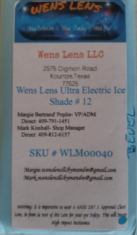 Wens Lens Ultra Electric Ice Shade #12