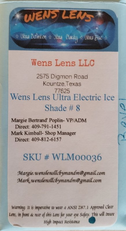 Wens Lens Ultra Electric Ice Shade #8