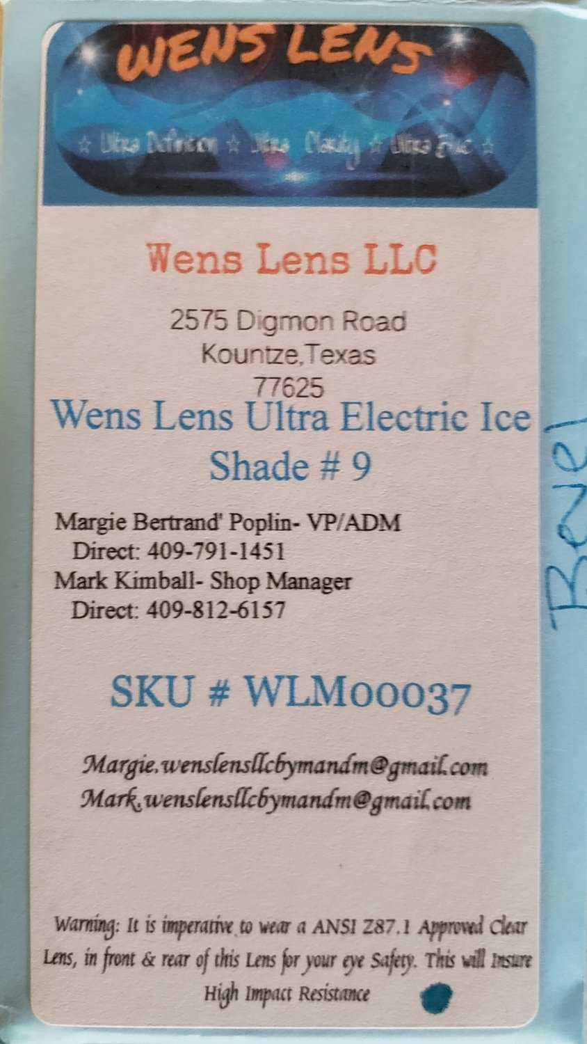 Wens Lens Ultra Electric Ice Shade #9