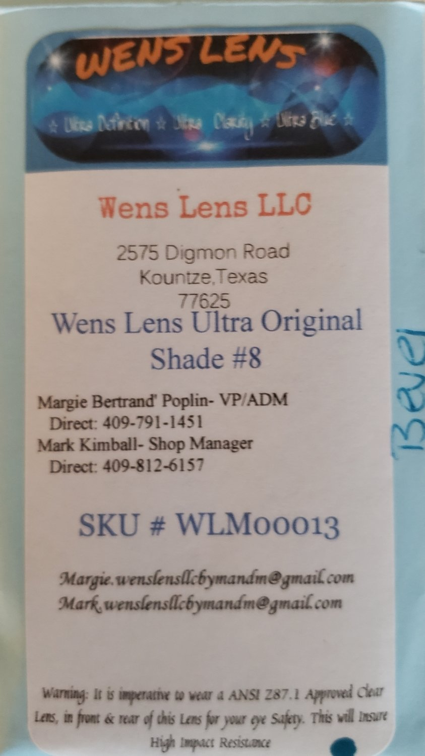 Wens Lens Ultra Original Shade #8