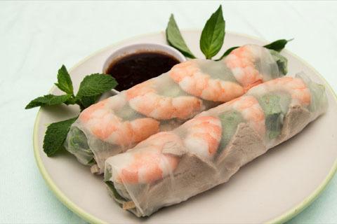 31.  Shrimp & Pork Spring Rolls (2 Rolls)