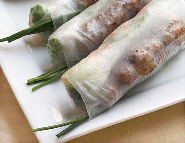 33.  Grilled Pork Spring Rolls (2 Rolls)