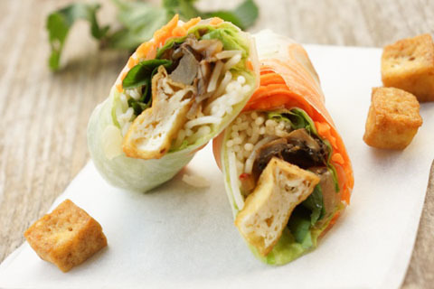 35. Veggie Tofu Spring Rolls (2 Rolls)