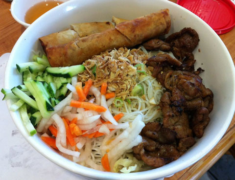 50. Egg Roll, Grilled Pork & Noodles (Bun Cha Gio Thit Nuong)