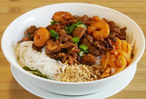 54.  Shrimp, Grilled Beef & Noodles (Bun Tom Bo Nuong)