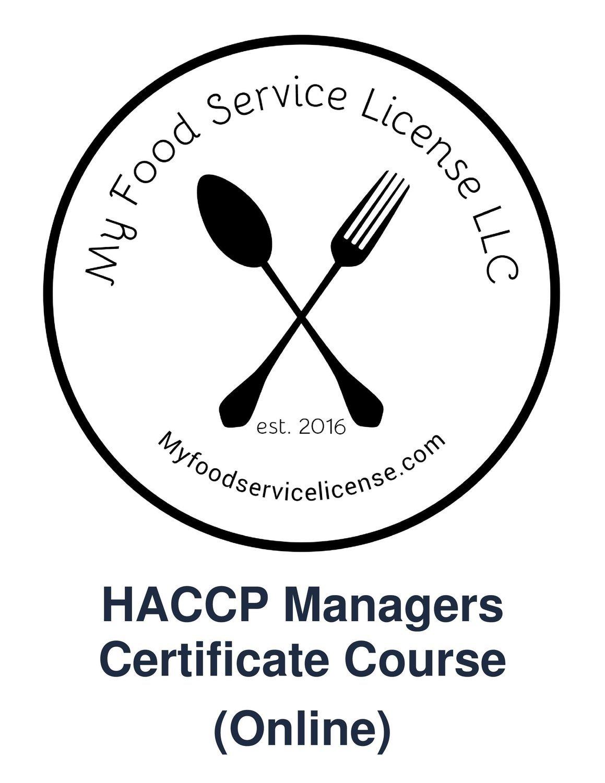 Basic Food Service Sanitation Manager Certification Course License