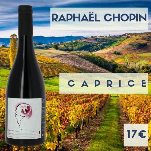 """6 bouteille de beaujolais Régnié """"Caprice"""" 2016 domaine Raphaël Chopin (17€)"""