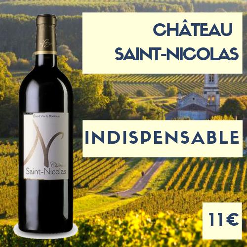 6 bouteilles de Château Saint-Nicolas Cadillac (rouge) 2016
