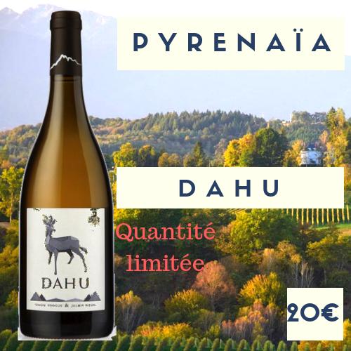"""6 bouteilles vignoble Pyrenaïa vin de France blanc sec  """"Dahu"""" 2018 (20€)"""