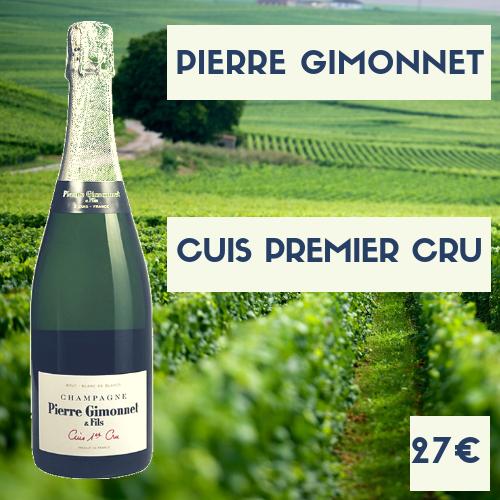 1 bouteilles de Champagne Pierre Gimonnet 1er cru Cuis (27€)