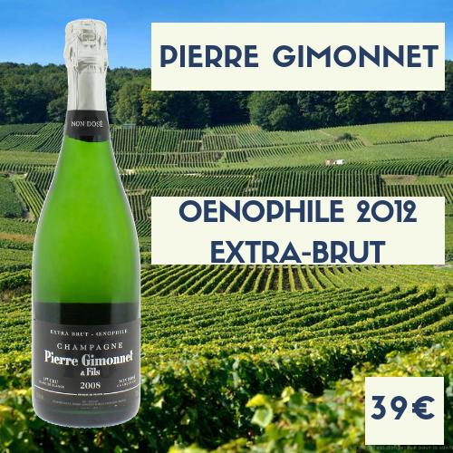 6 bouteilles de Champagne Pierre Gimonnet Oenophile Grand Cru 2012 (39€)