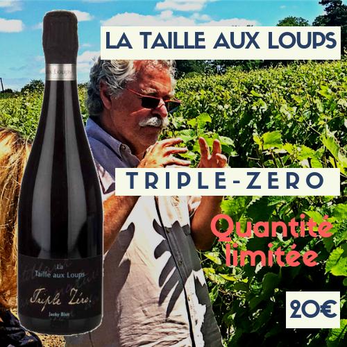6 bouteilles Domaine de la Taille aux Loups Montlouis Triple Zéro (bulles) 20€