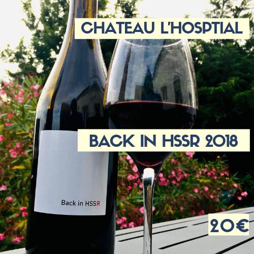 1 bouteilles de Château l'Hospital Back in HSSR 2018, IGP Atlantique (20€)