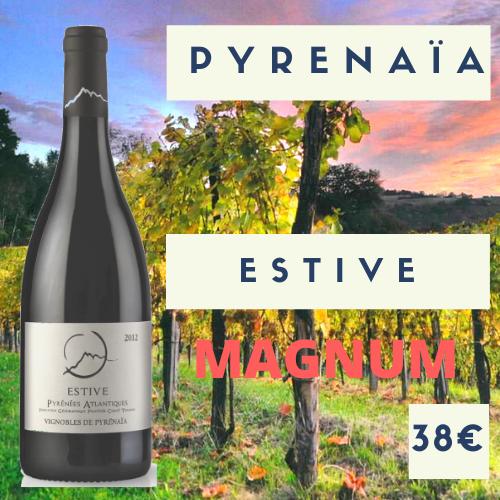 """3 Magnums Vignoble Pyrenaïa Vin de France rouge  """"Estive"""" 2017 (38€)"""