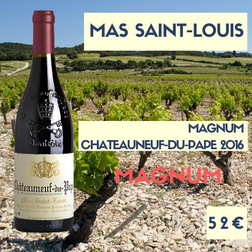 3 Magnums de Mas Saint-Louis, Châteauneuf-du-Pape Rouge 2016 (52€)