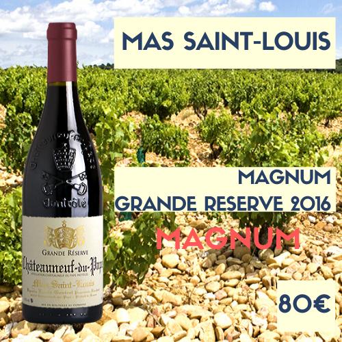 3 Magnum du Mas Saint-Louis, Châteauneuf-du-Pape Rouge Grande Réserve 2016 (80€)