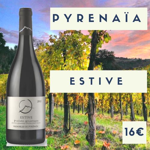 """6 bouteilles Vignoble Pyrenaïa Vin de France rouge  """"Estive"""" 2017 (16€)"""