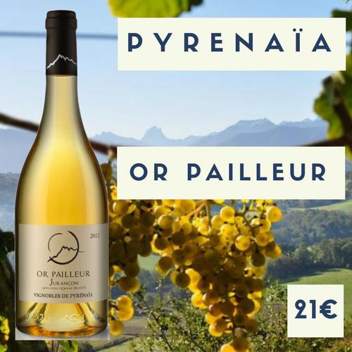 """6 bouteilles de vignoble Pyrenaïa, Jurançon doux """"Or Pailleur"""" 2017 (21€)"""