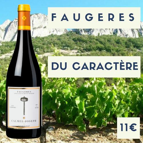 6 bouteilles de Calmel et Joseph, Faugères 2017 (11€)