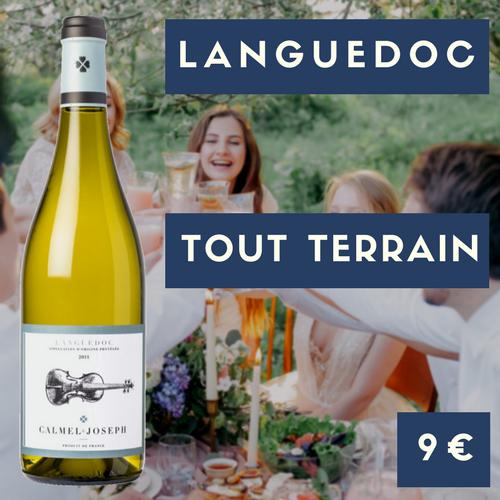 6 bouteilles de Calmel et Joseph, Languedoc blanc 2018 (9€)