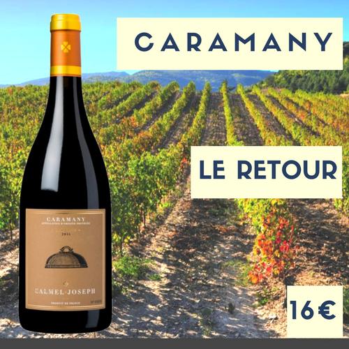 2 bouteilles de Calmel et Joseph, Caramany rouge Côtes du Roussillon Villages 2016 (16€)