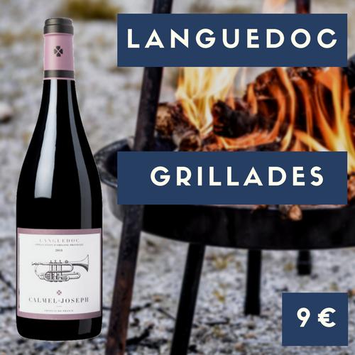 5 bouteilles de Calmel et Joseph, Languedoc rouge 2016 (9€)