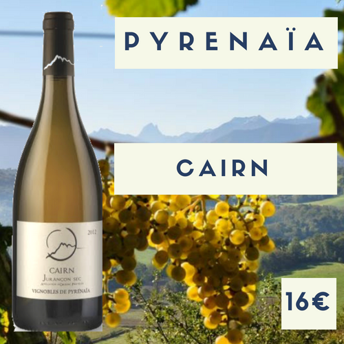 """6 bouteille Vignobles Pyrenaïa Jurançon blanc sec  """"Cairn"""" 2017 (16€)"""