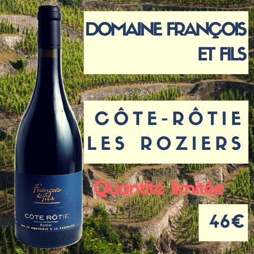 """6 bouteilles de Côte-Rôtie  """"les Roziers"""" 2017 domaine Francois et fils (46€)"""