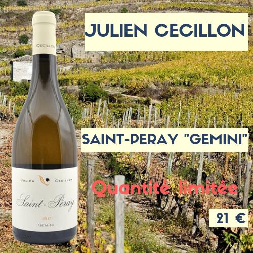 """1 bouteilles de Julien Cécillon Saint-Péray  2017 """"Gemini""""  BLANC (21€)"""