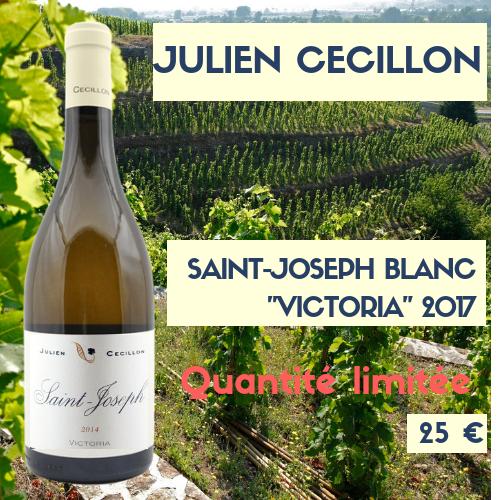 """6 bouteilles Saint-Joseph 2017 """"Victoria""""  blanc de Julien Cécillon  (25€)"""