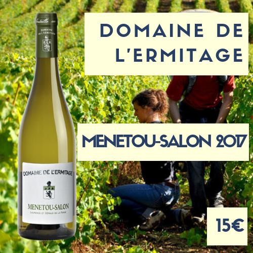 3 bouteilles du domaine de l' Ermitage, Menetou-Salon  (Loire)  blanc 2017 (15€)